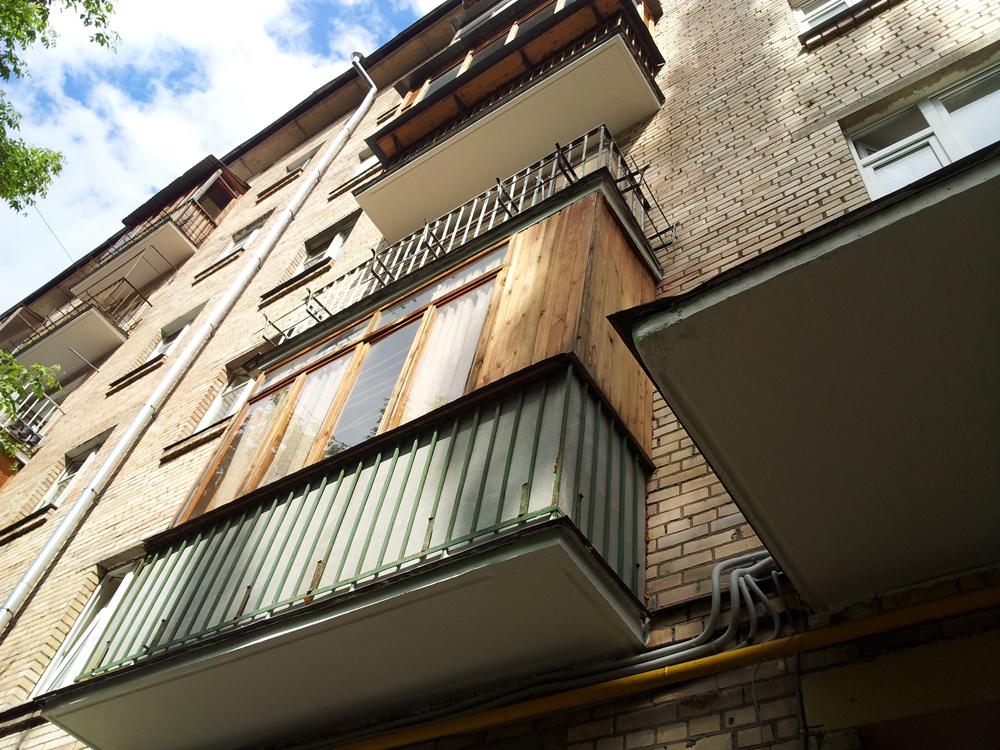 Отремонтируемые балконы - обьект сдан - 13 парковая 25 кор 1.